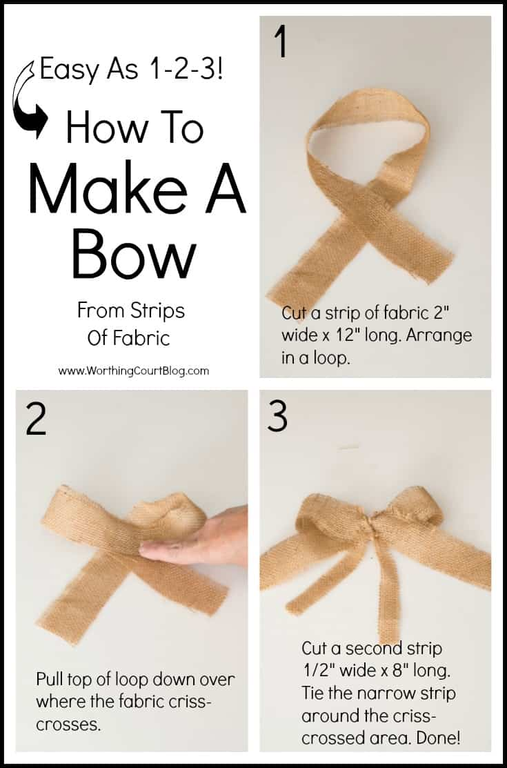 How to make a bow from strips of fabric or ribbon.