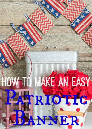 How To Make An Easy Patriotic Banner Garland