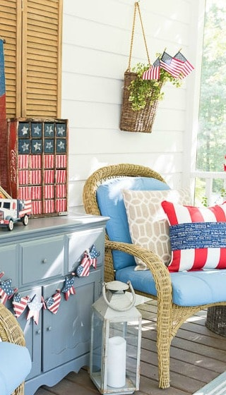 My Screen Porch Is July 4th Ready!