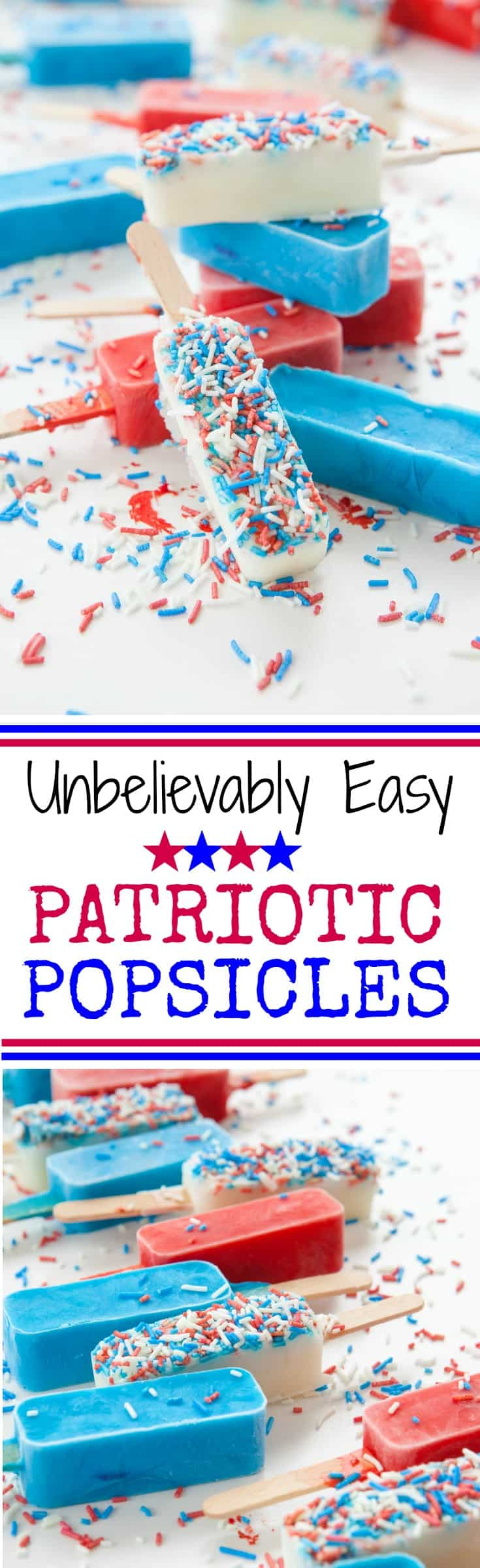 How to make red, white and blue patriotic popsicles for Memorial Day, Flag Day, July 4th or any time of year!