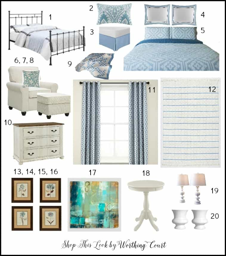 I've done the shopping for you! Here's everything you need to recreate the look of a beautiful HGTV Dream Home bedroom.
