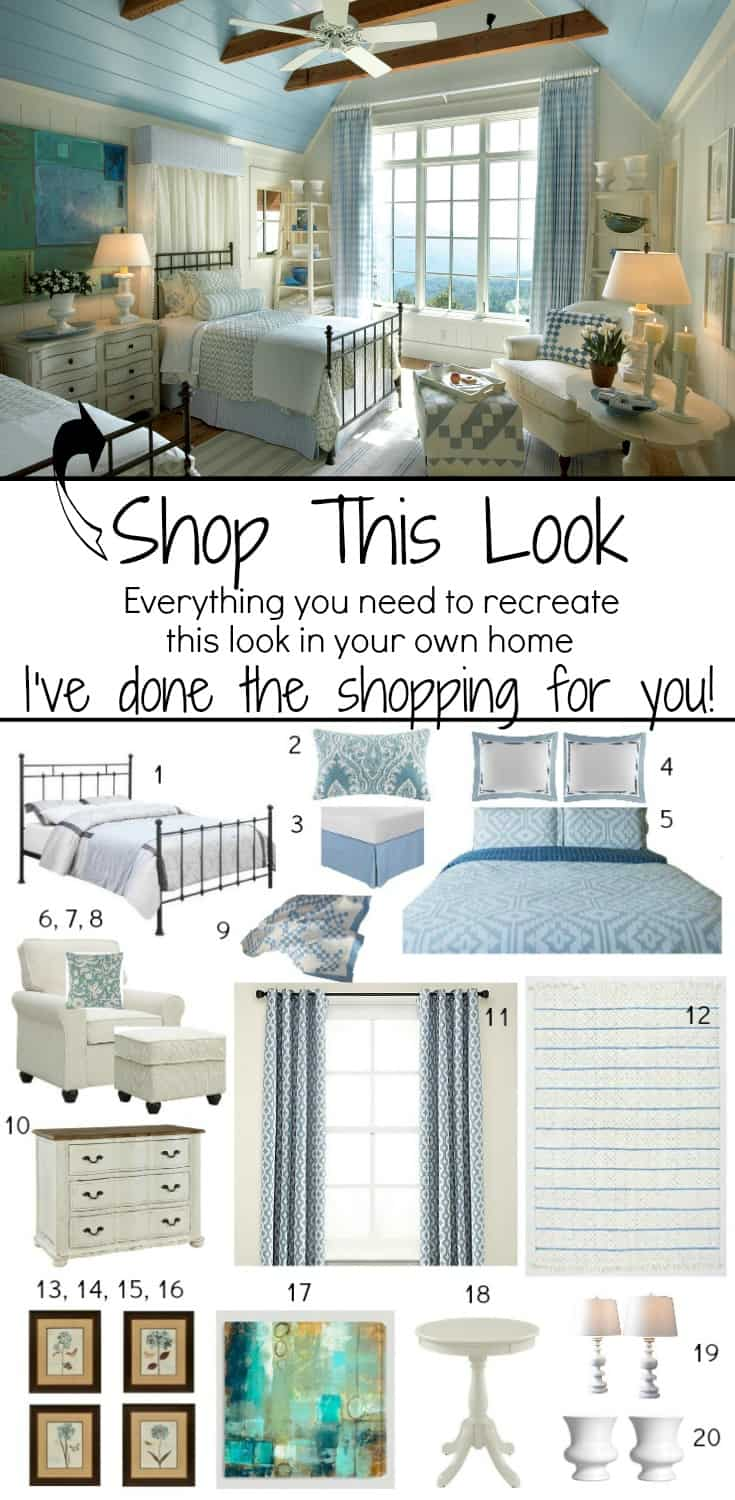 Love the look of this beautiful bedroom? You can recreate it in your own home and I've done all of the shopping for you!