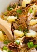 Favorite Salad - Grilled Pork Loin Asian Salad with BBQ Dressing.