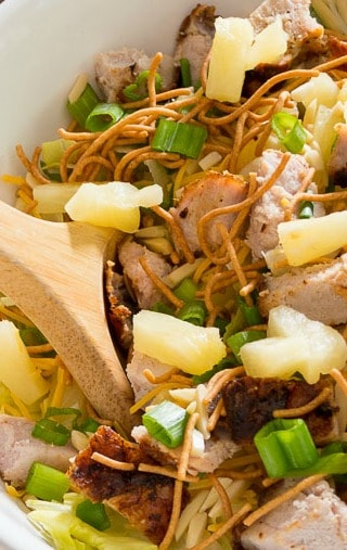 Quick Grilled Pork Loin Asian Salad With Sweet BBQ Dressing