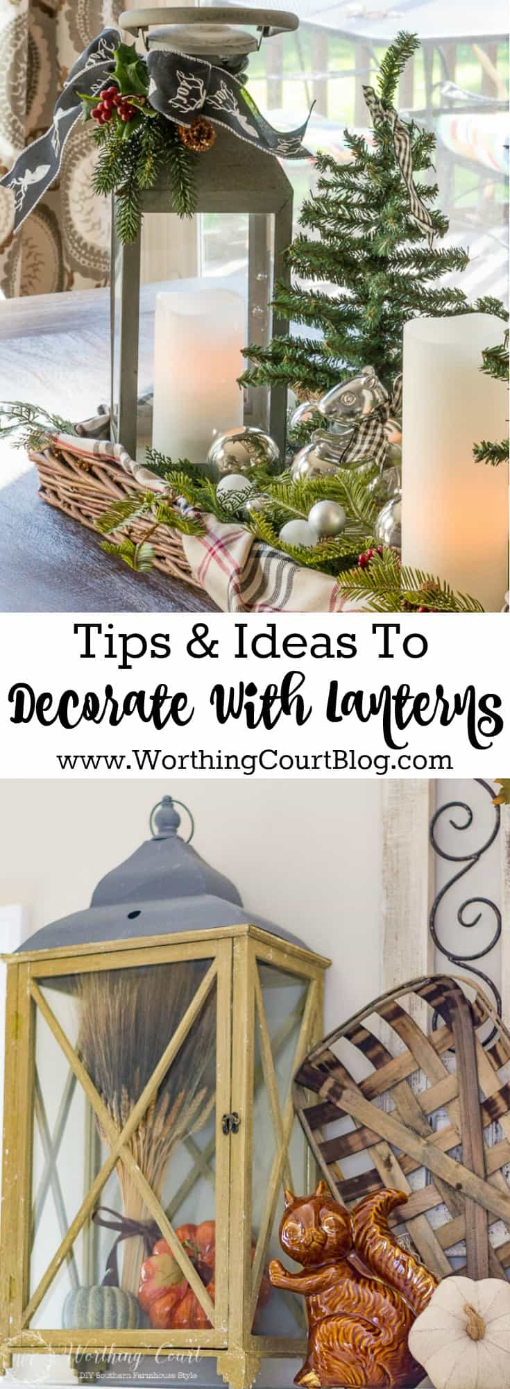 How To Decorate With Lanterns - tips and ideas for what to put in lanterns