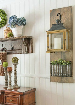 Step by step directions for building a farmhouse style hanging wall lantern - Worthing Court