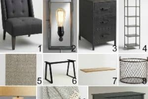 Rustic Industrial Office Makeover Inspiration With World Market