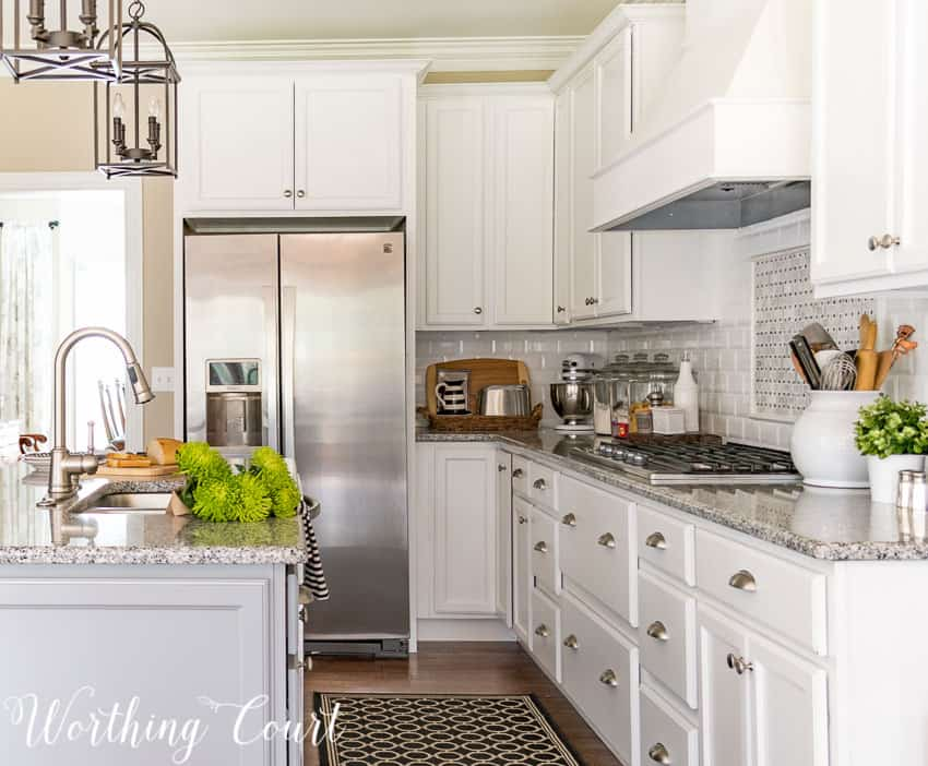 Add panels to each side of a refrigerator to give it an expensive built-in look.