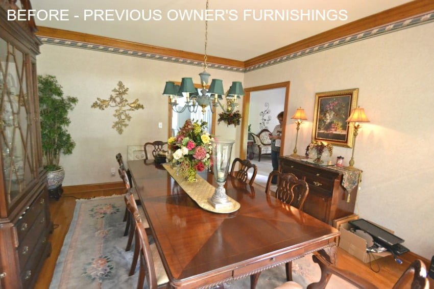 Dining Room with previous owners furnishings