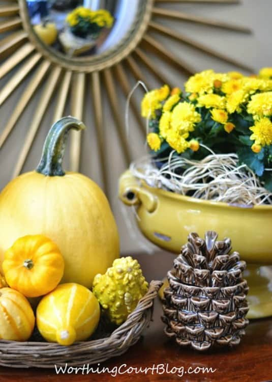 Easy fall vignette using monochromatic colors -Worthing Court Blog