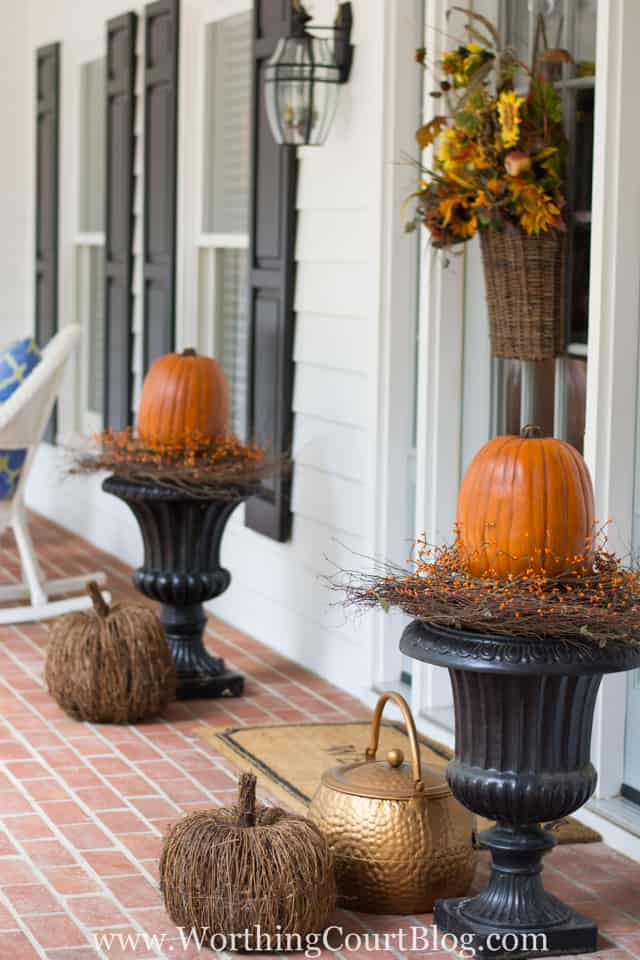 Easy fall planters || Worthing Court Blog