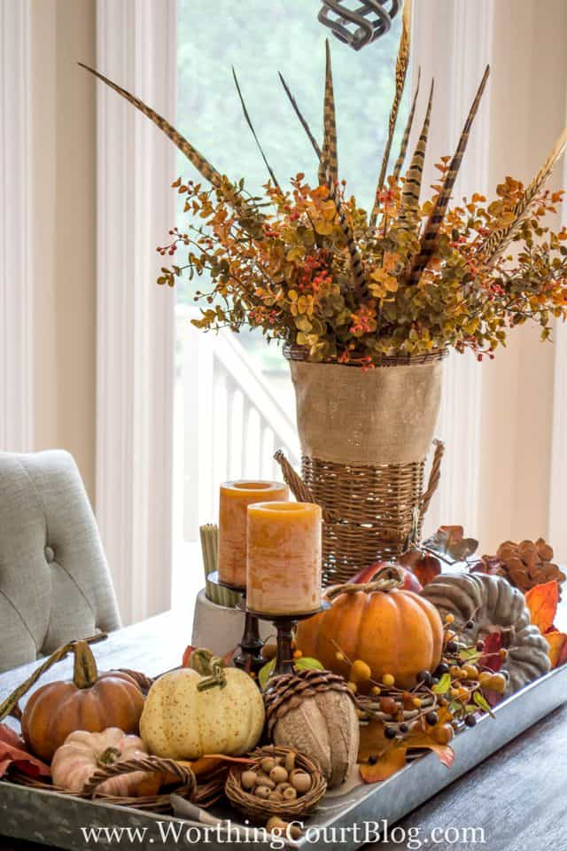 Farmhouse Fall Table Centerpiece || Worthing Court