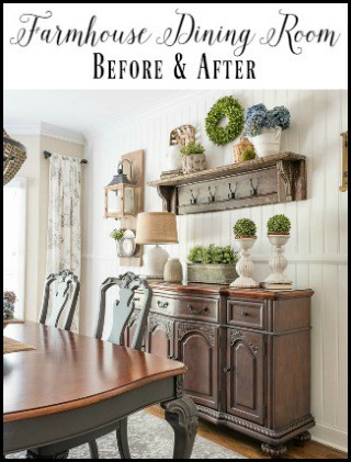 Farmhouse dining room - before and after