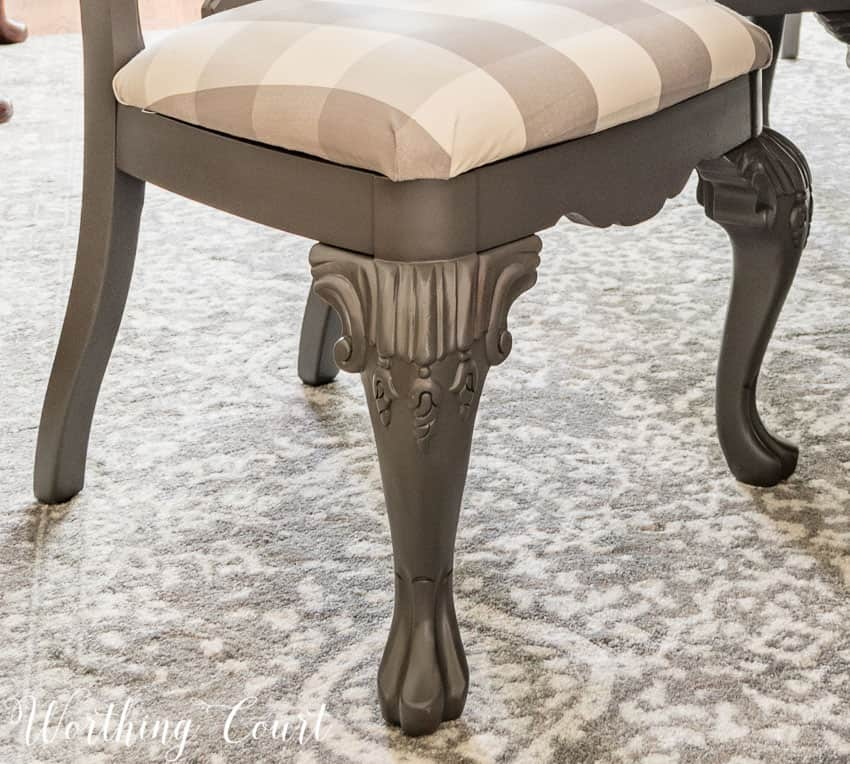 How To Redecorate A Dining Room - spray paint chairs with Rustoleum Anodized Bronze