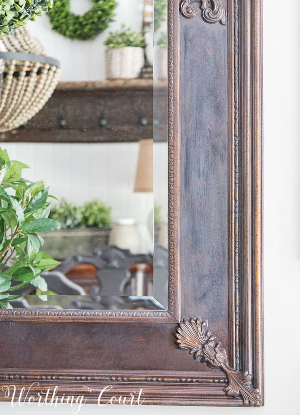 How To Redecorate A Dining Room - use stain to tone down garish gold tones on the frame of a dated mirror