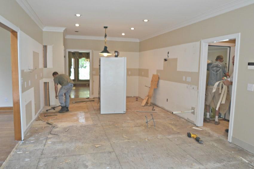 Kitchen flooring demo