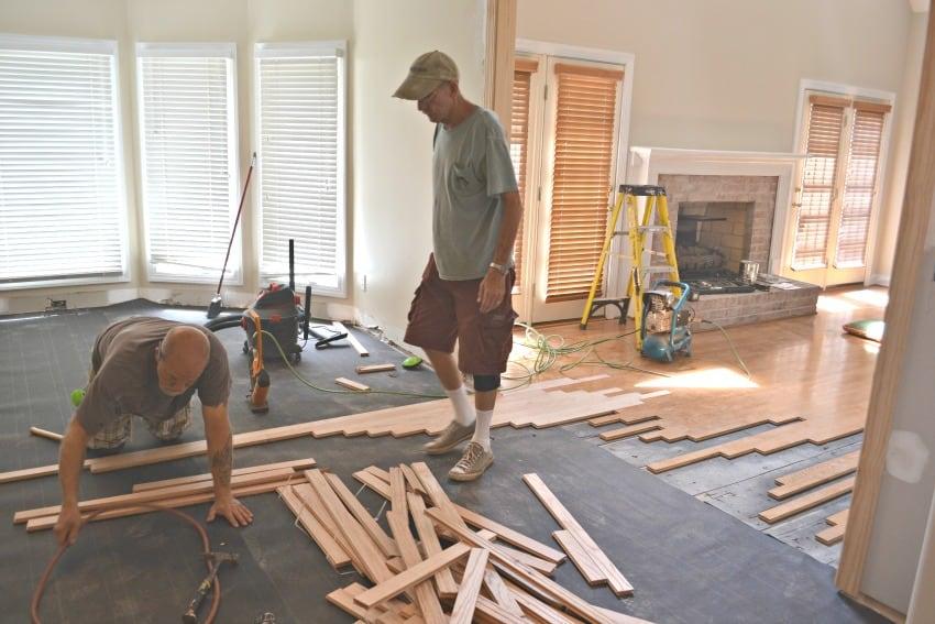 New Hardwood Kitchen Floors