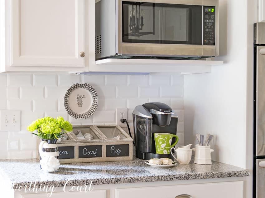 Coffee and hot beverage nook