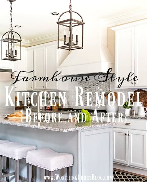 Farmhouse Style Kitchen Remodel - Before And After || Worthing Court