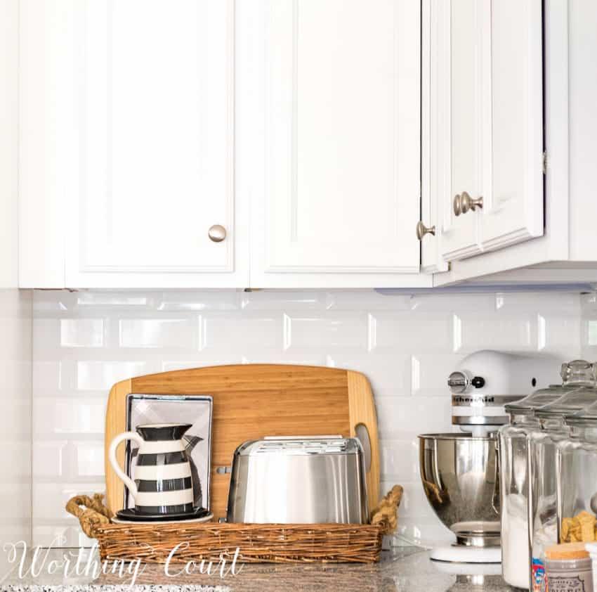 Farmhouse style kitchen toaster nook
