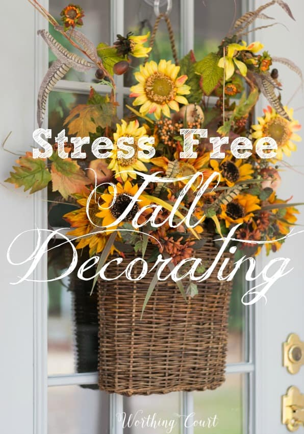 Stress free fall decorating ideas || Worthing Court