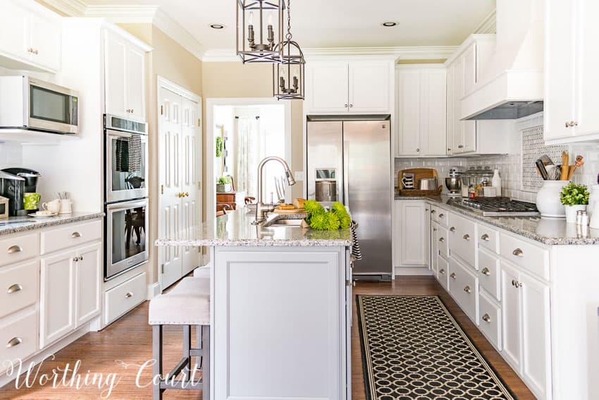 Farmhouse style white kitchen remodel