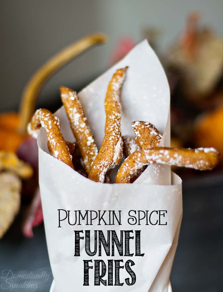 Pumpkin Spice Funnel Fries