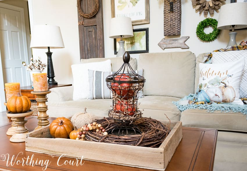 Coffee table style for fall || Worthing Court
