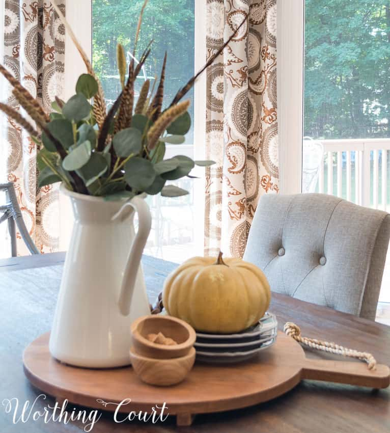 Super easy fall centerpiece || Worthing Court