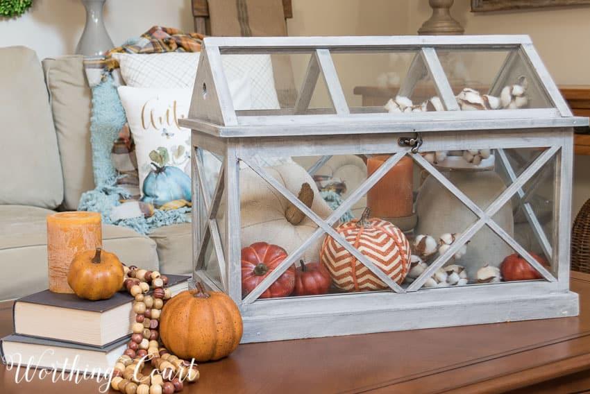 Fall vignette in a terrarium || Worthing Court