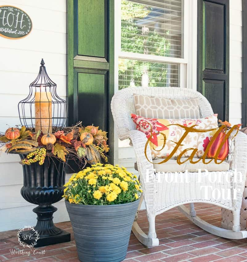 Fall front porch tour || Worthing Court