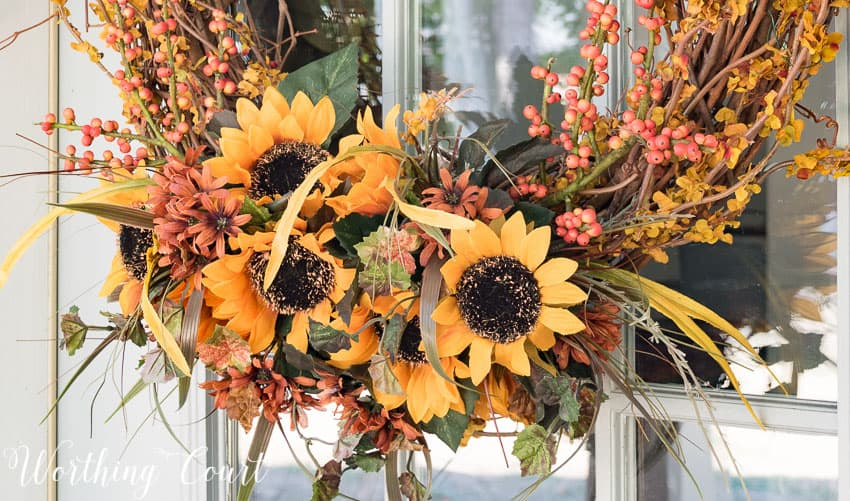 Fall twig wreath picks || Worthing Court