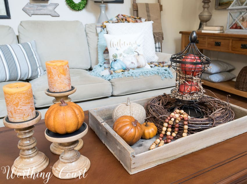 A fall coffee table vignette || Worthing Court