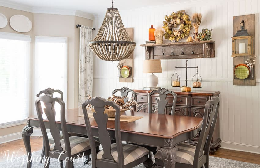 Farmhouse Style Dining Room Fall Tour