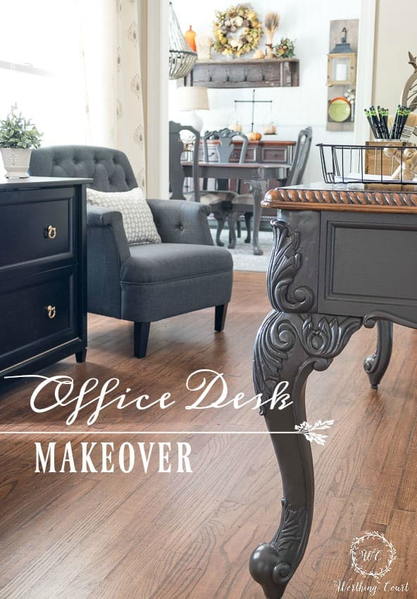 Farmhouse Style Home Office Desk Makeover || Worthing Court