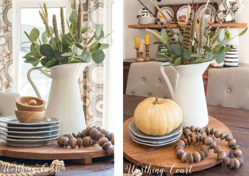 You only need to tweak an existing centerpiece a little bit to make it fall ready || Worthing Court
