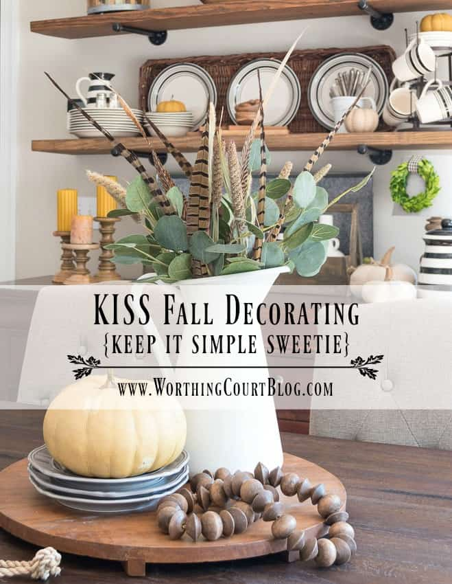 Rustic Farmhouse Fall Open Shelves And Centerpiece || Worthing Court