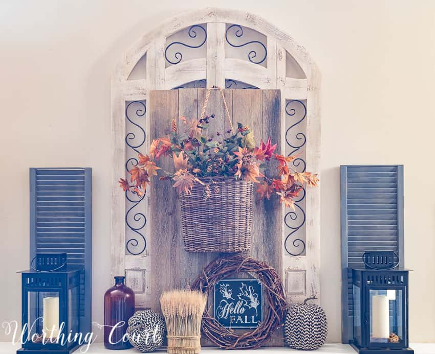 Fall mantel decorations || Worthing Court