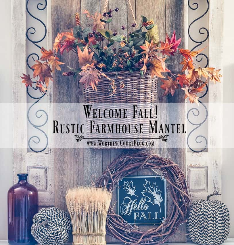 Welcome Fall Rustic Farmhouse Mantel