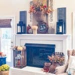 Rustic Farmhouse Fall Mantel