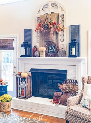 Welcome Fall Rustic Farmhouse Mantel || Worthing Court