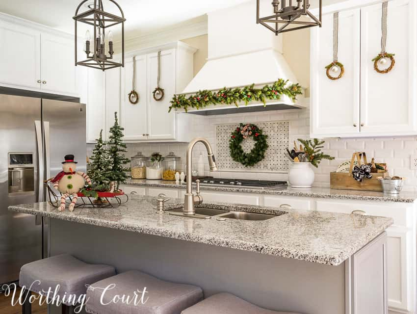 Farmhouse Christmas kitchen || Worthing Court