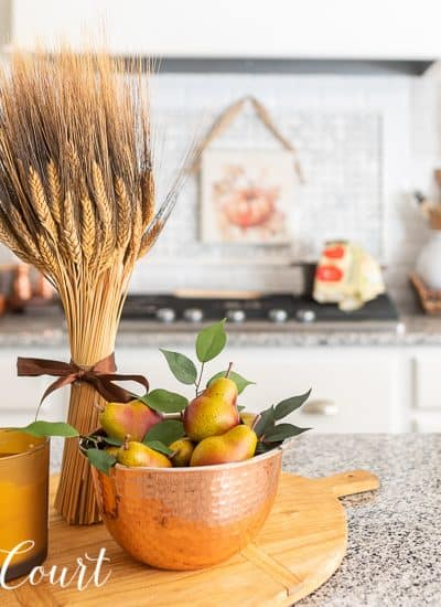 directions for how to decorate for fall with vignettes