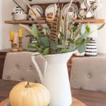 KISS Fall Decorating – Rustic Farmhouse Fall Shelves And Centerpiece