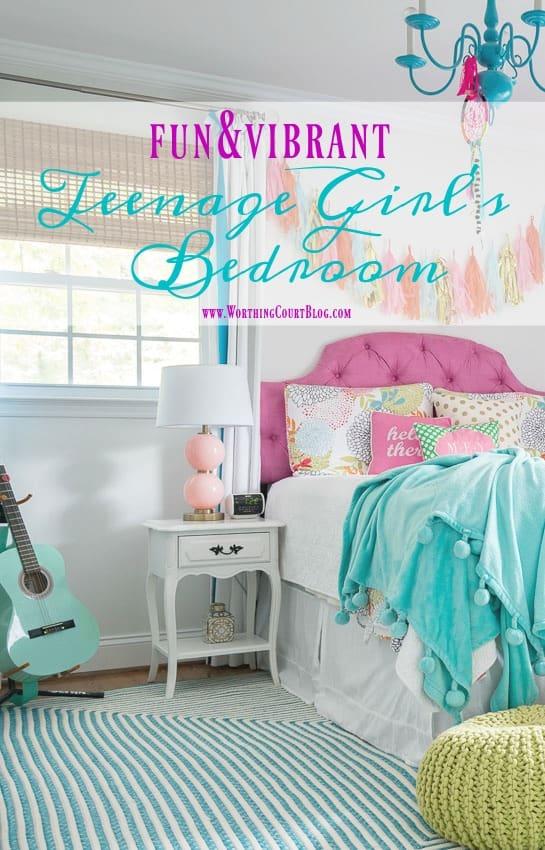 Fun And Vibrant Teenage Girl's Bedroom || Worthing Court