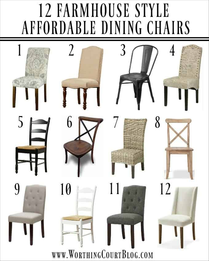 12 AFFORDABLE FARMHOUSE DINING CHAIRS #entertaining #diningroom
