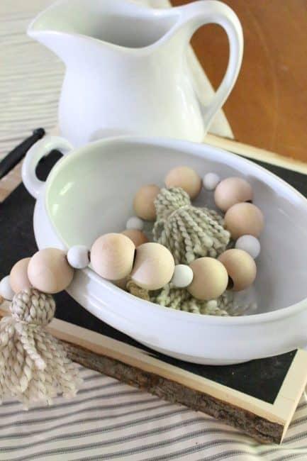 DIY Wood Bead And Tassel Garland