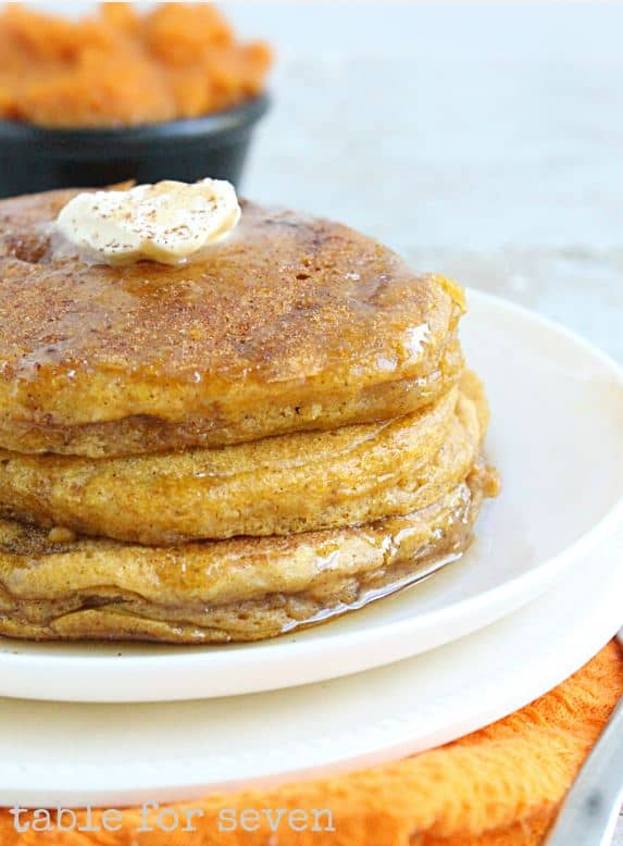 Pumpkin Pancakes from Table For Seven