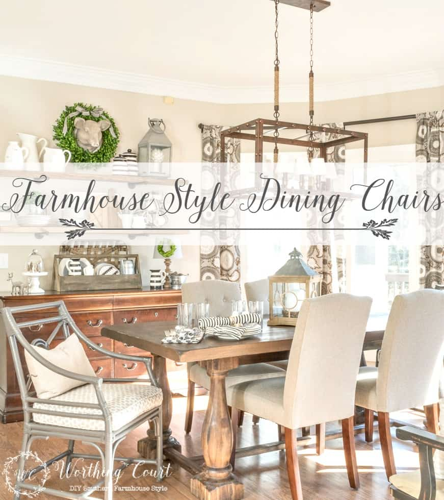 Heres A Great Roundup Of 12 Affordable Farmhouse Style Chairs To Spiff Up Your Dining Area