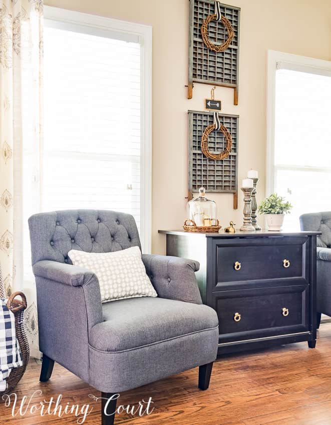 Gray chairs for a farmhouse style office